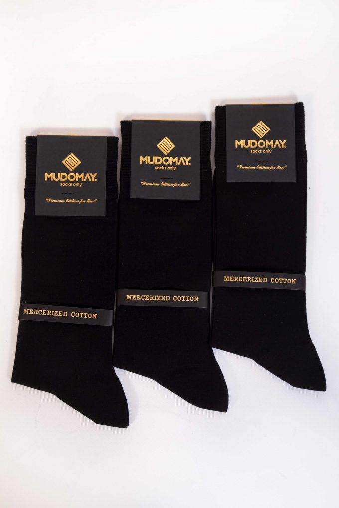 11001-2 Mudomay Yazlık Erkek Soket Merserize Siyah Çorap