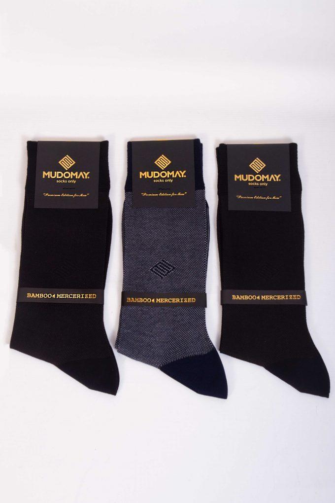 17329-1 Mudomay Yazlık Erkek Soket Bambu Merserize Çorap