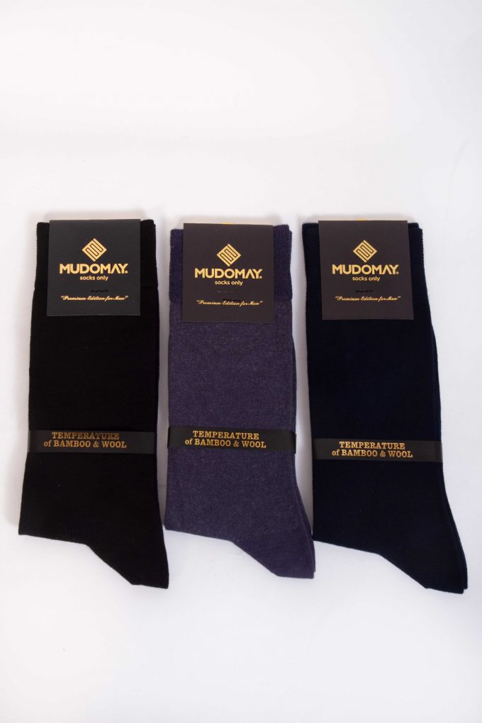 23001 Mudomay Kışlık Erkek Soket Bambu Yün Çorap
