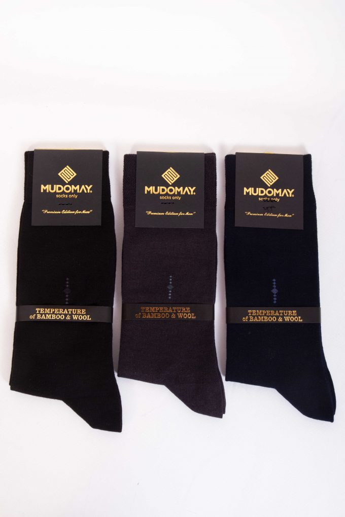 23254 Mudomay Kışlık Erkek Soket Bambu Yün Çorap