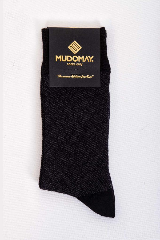 23590-Siyah Mudomay Kışlık Erkek Soket Bambu Yün Çorap
