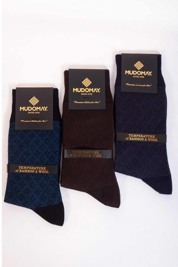 23590 Mudomay Kışlık Erkek Soket Bambu Yün Çorap