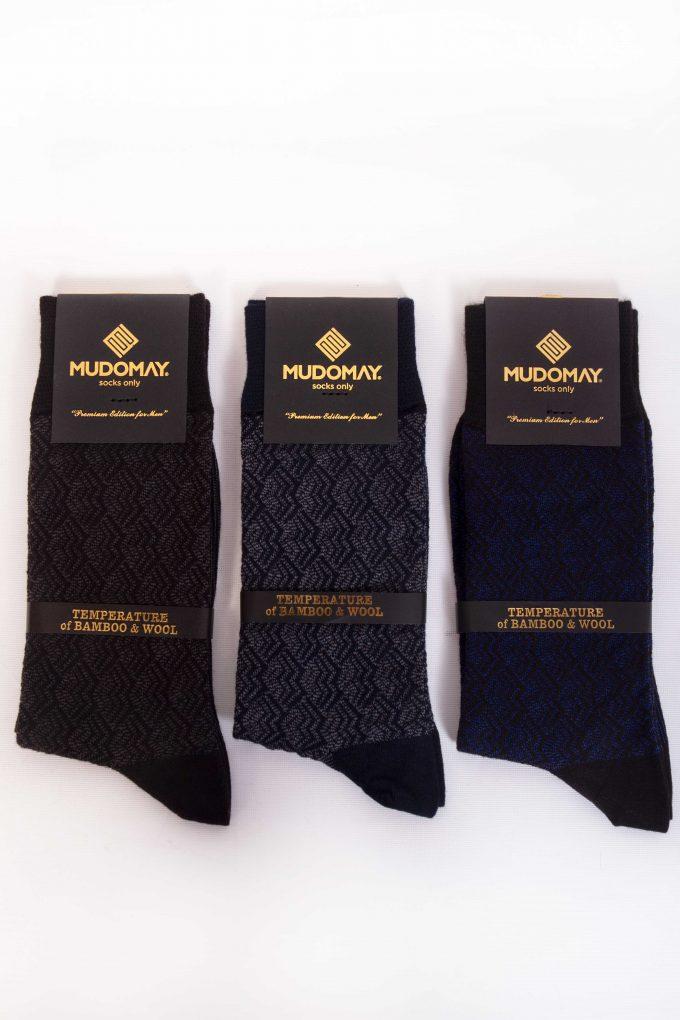 23620-1 Mudomay Kışlık Erkek Soket Bambu Yün Çorap