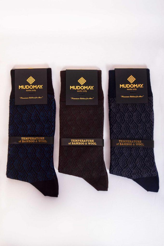 23620-2 Mudomay Kışlık Erkek Soket Bambu Yün Çorap