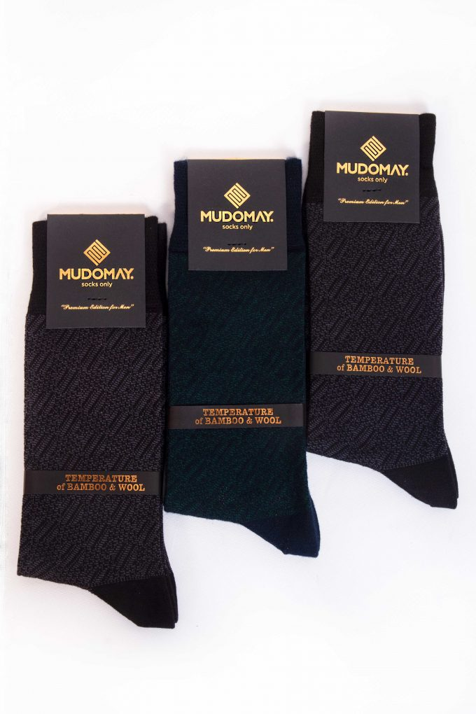 23670 Mudomay Kışlık Erkek Soket Bambu Yün Çorap