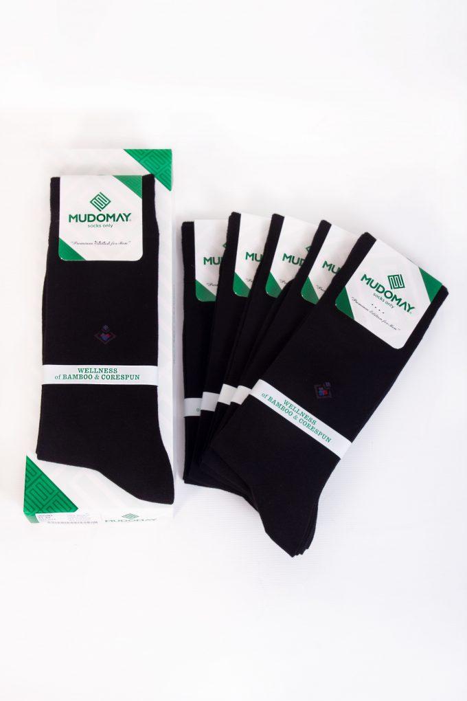 26580-Siyah Mudomay Kışlık Erkek Soket Bambu Corespun Çorap