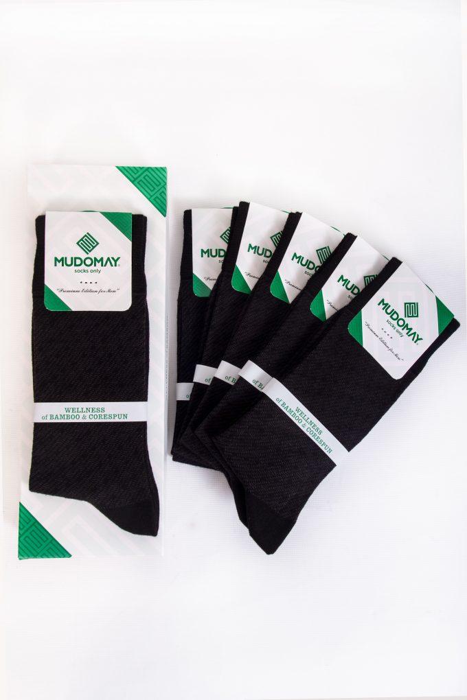 26820-Siyah Mudomay Kışlık Erkek Soket Bambu Corespun Çorap